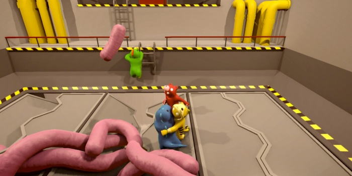 Gang Beasts online multiplayer beta Quick Rinse